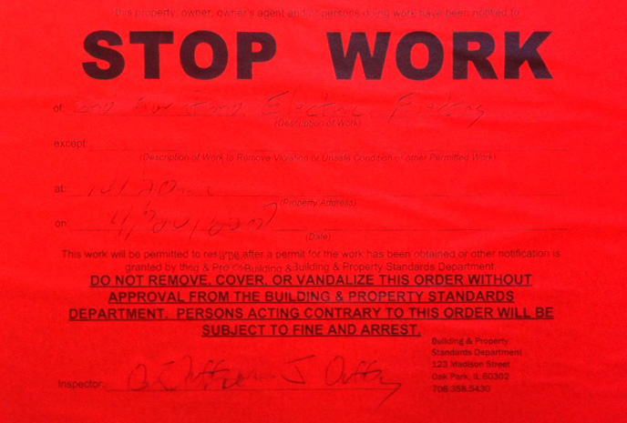 Stop work order Miami Florida