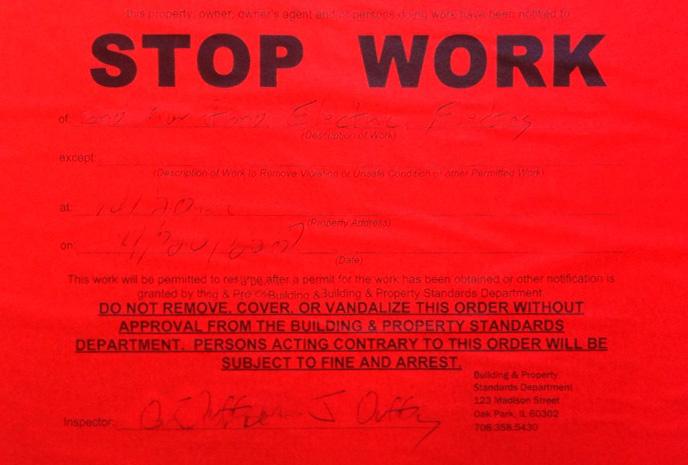 Stop work order Miami Florida